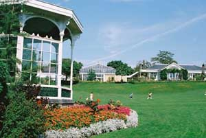 The Main Lawn with the Bandstand