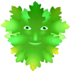 Green Man Face