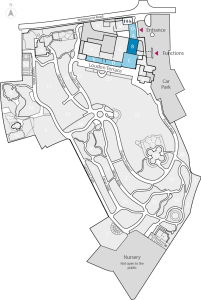 Entrance & Glasshouses Map