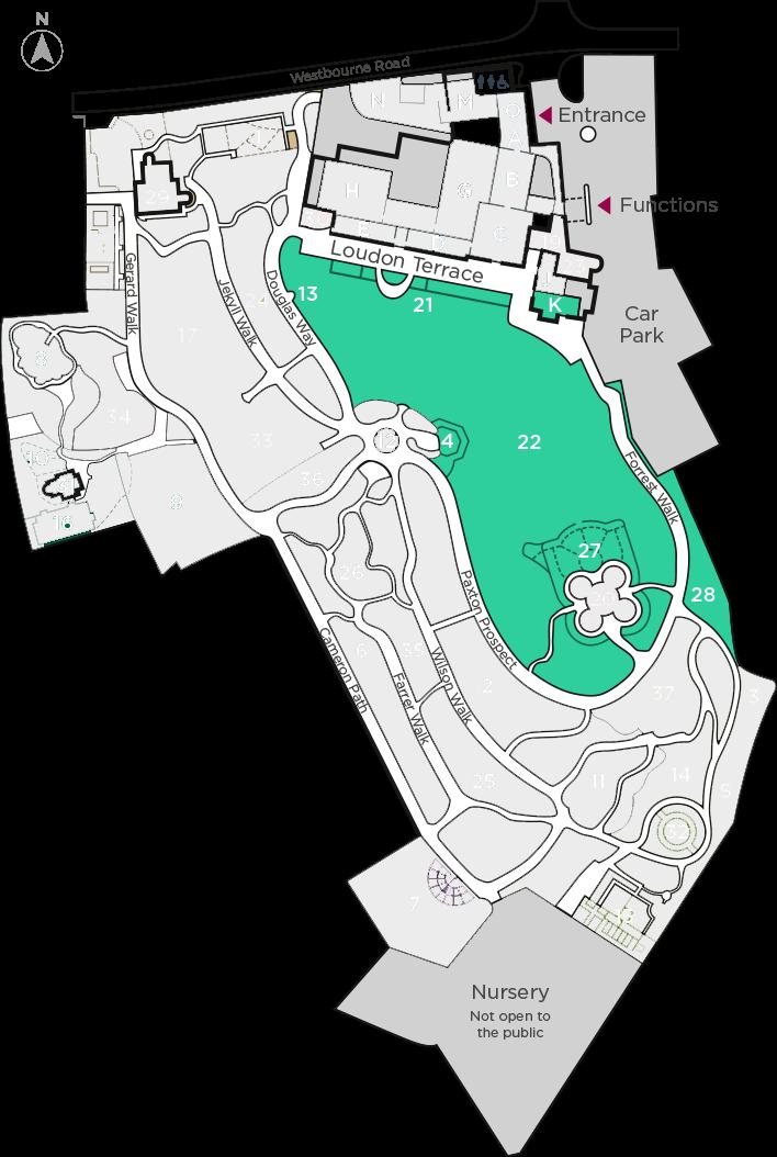 Interactive Map Birmingham Botanical Gardens