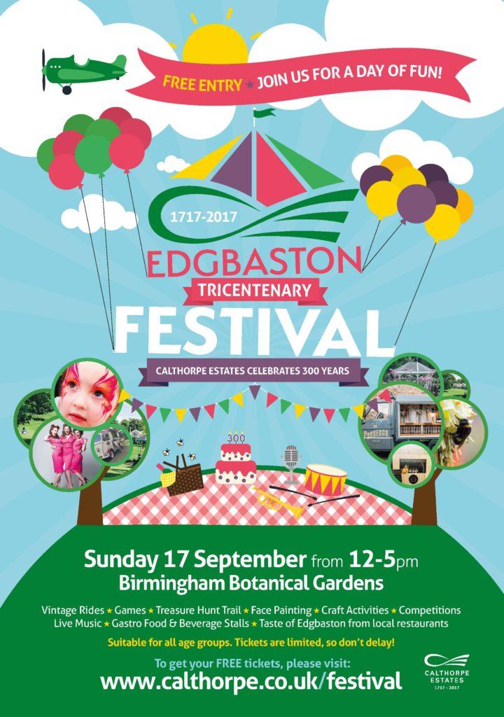 Edgbaston Tricentenary Festival - Free entry