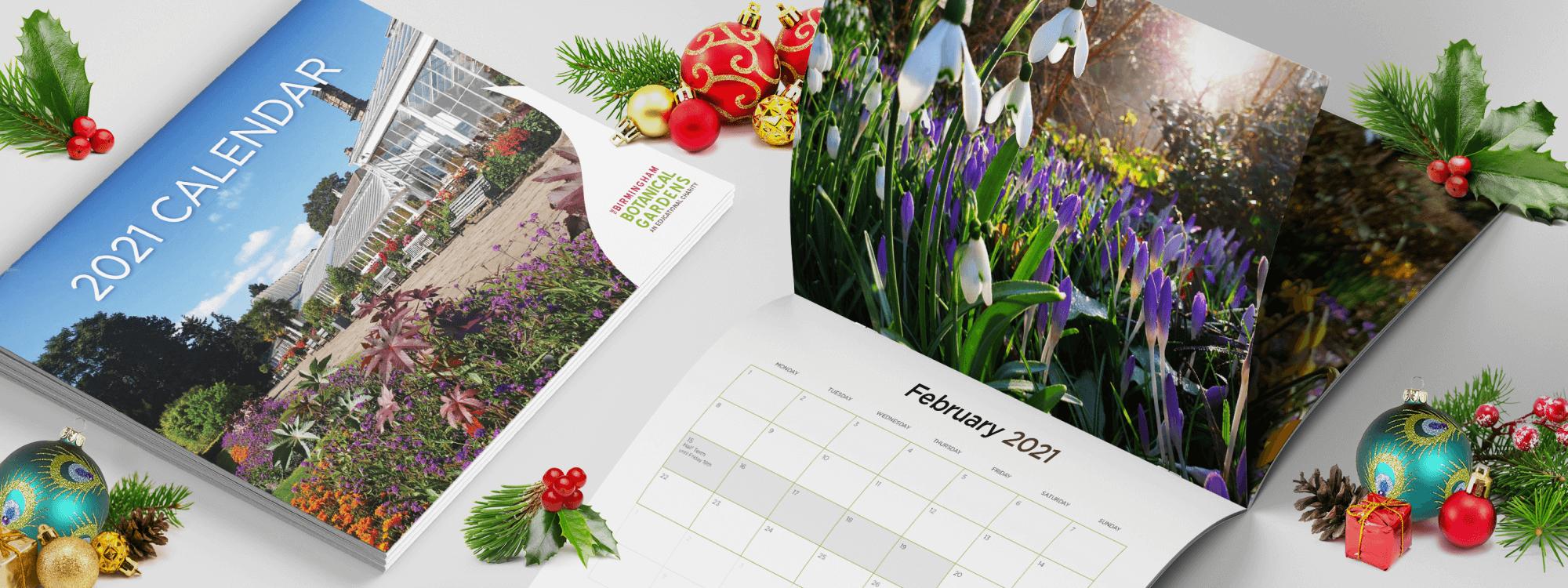 Birmingham Botanical Gardens 2021 Calendar